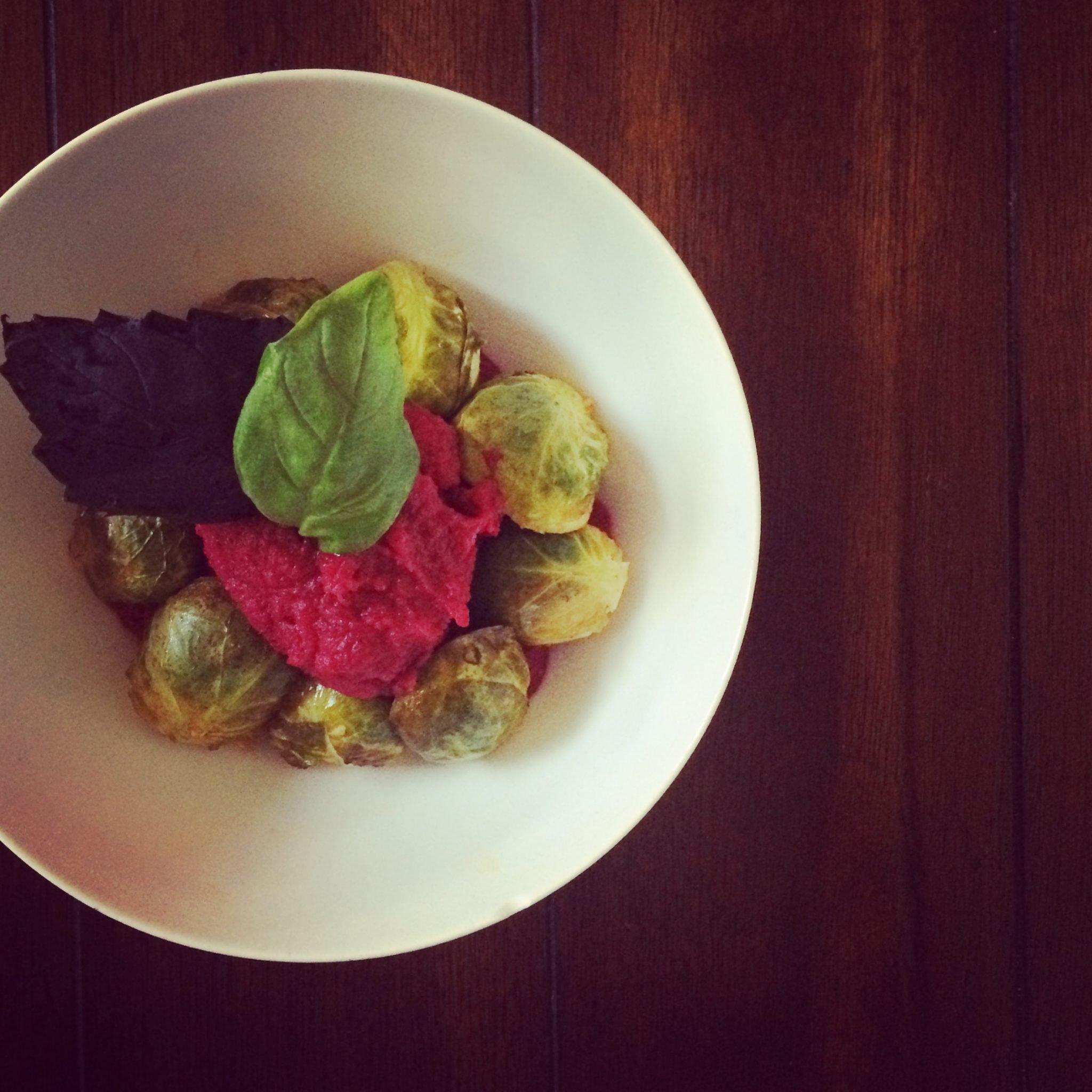 Cauliflower & Beet Mashup