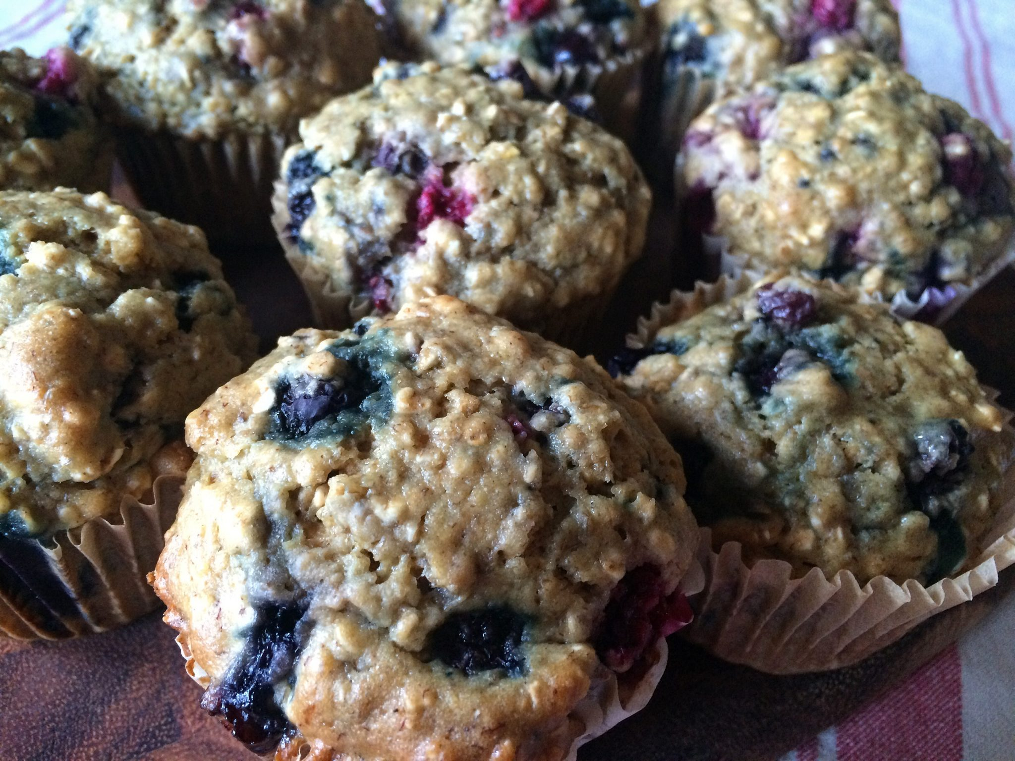 Merry Berry Oat Muffins