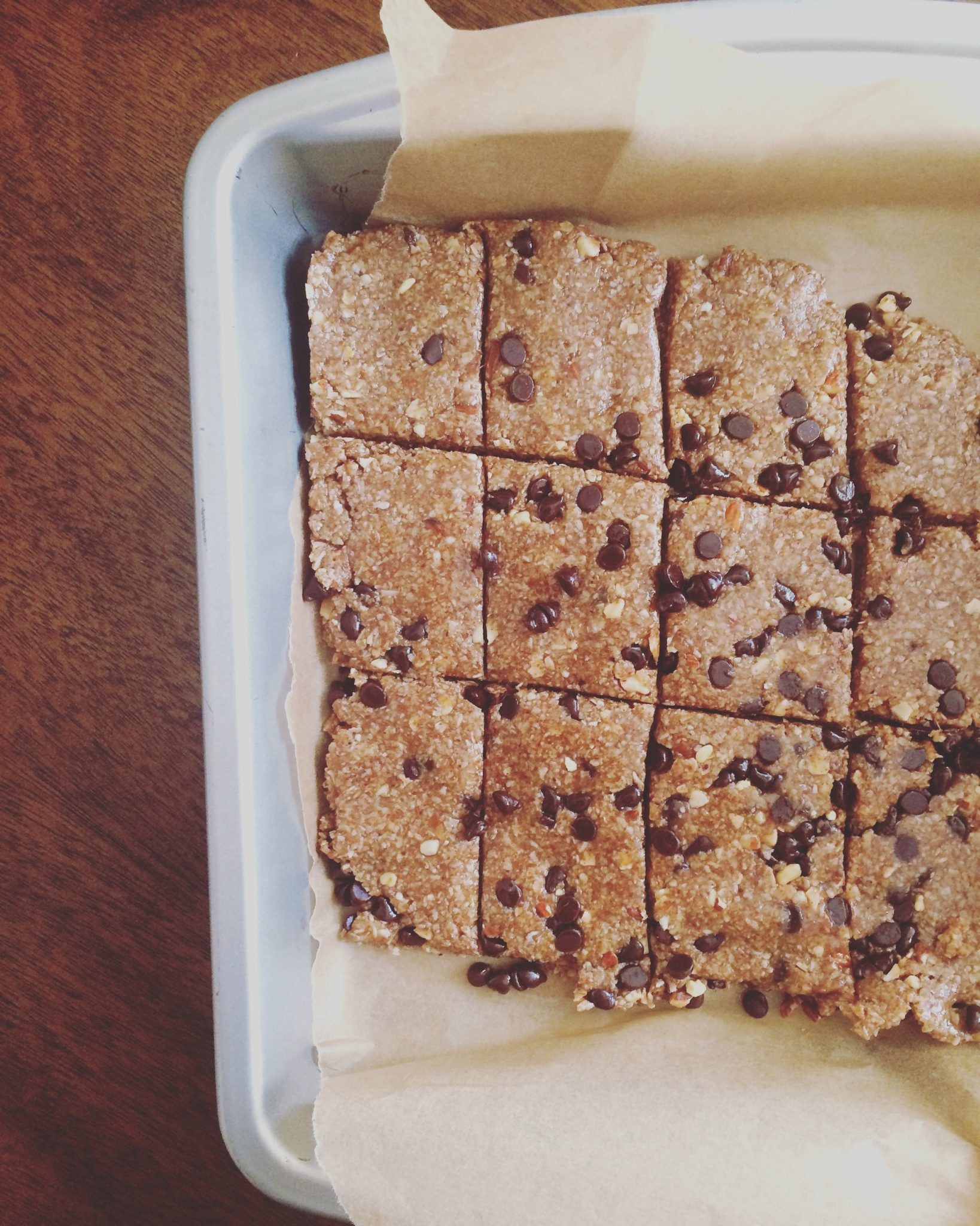 No Bake Oat + Almond Bars