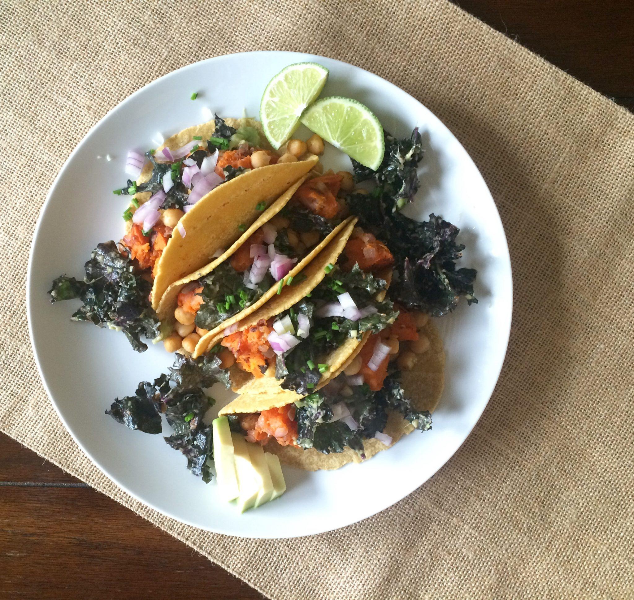 Sweet Potato + Kale Breakfast Tacos