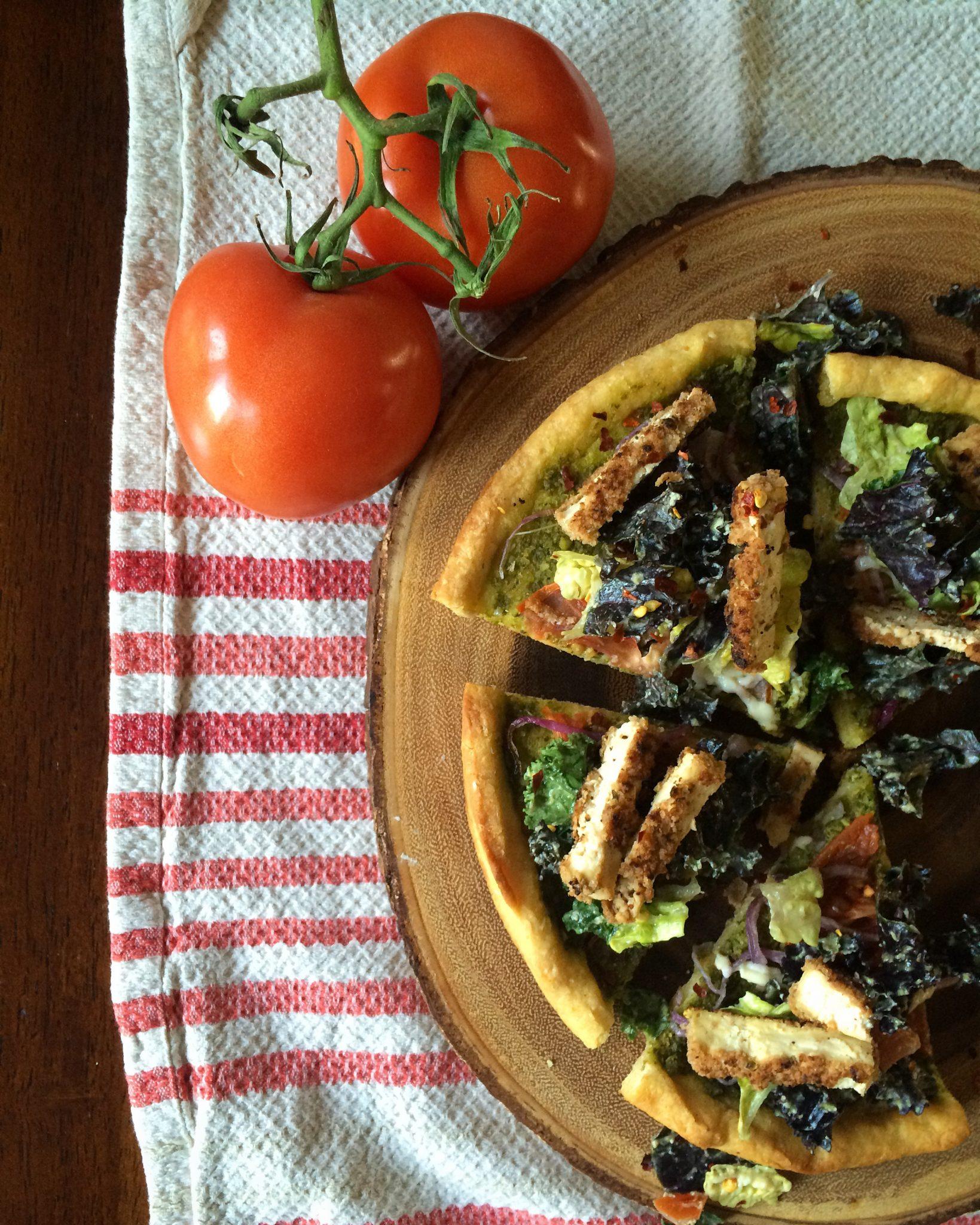 Pesto Caesar Pizza