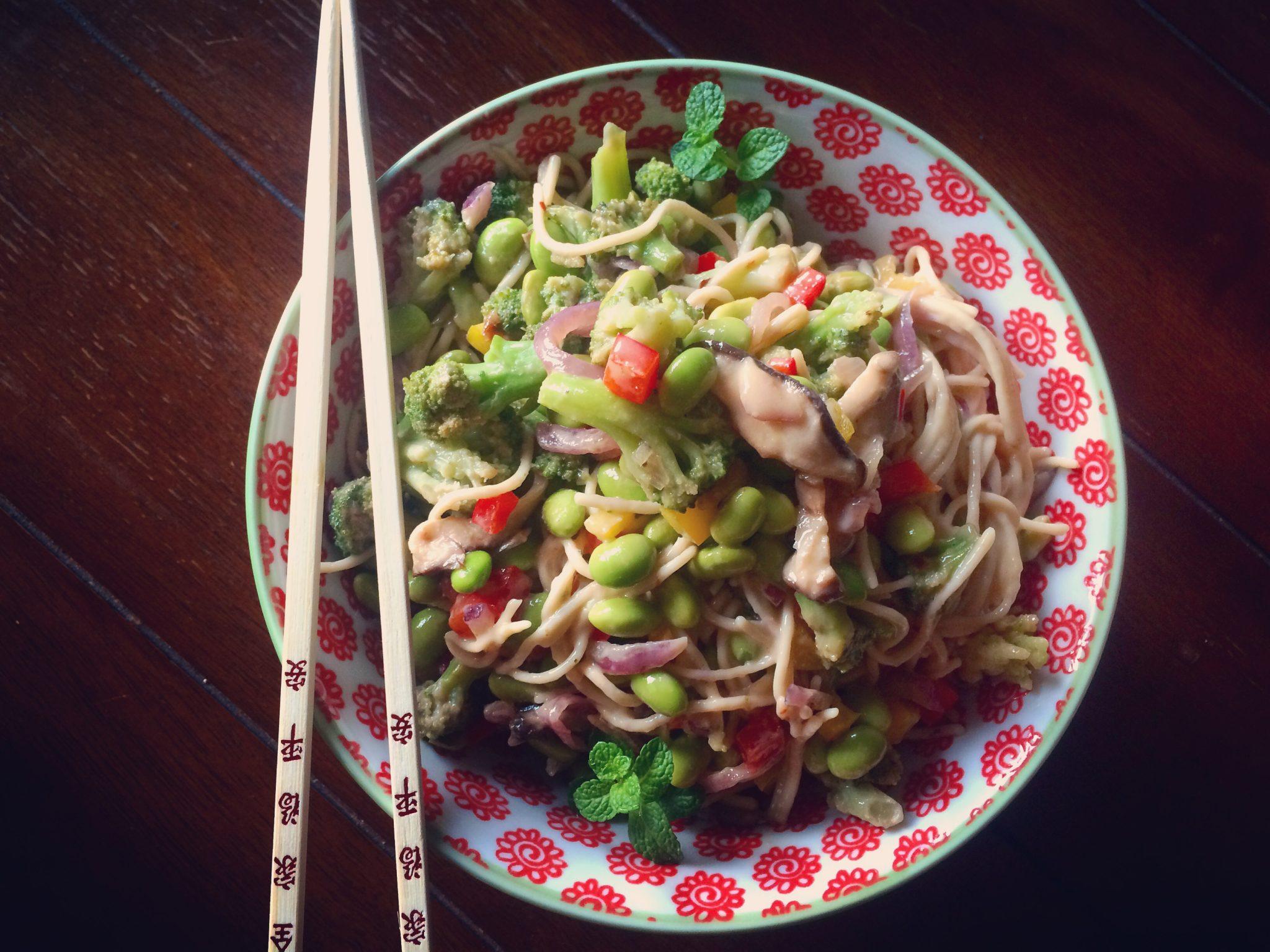 Edamame Noodle Salad