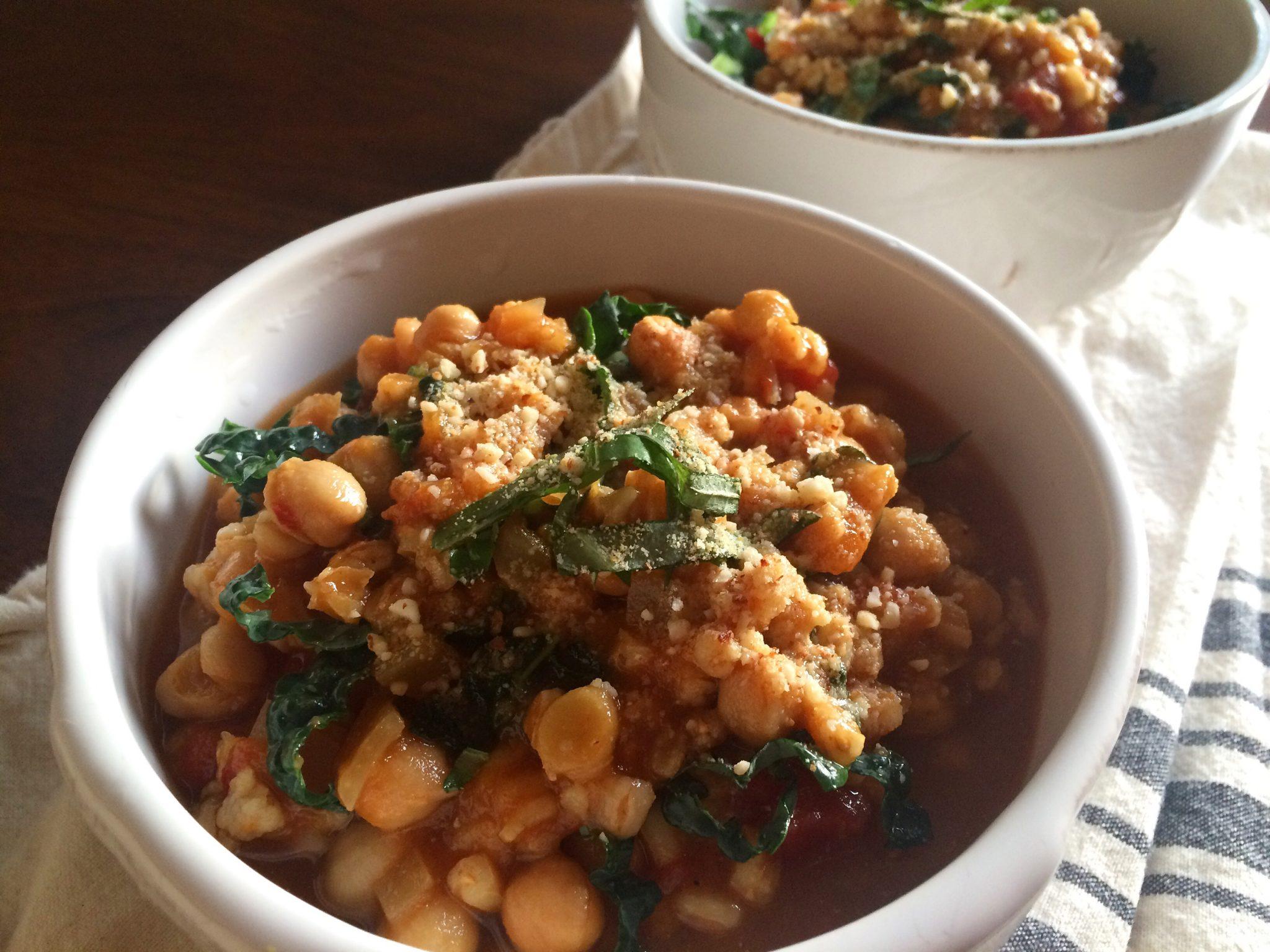 Italian Tomato & Kale Farro Soup