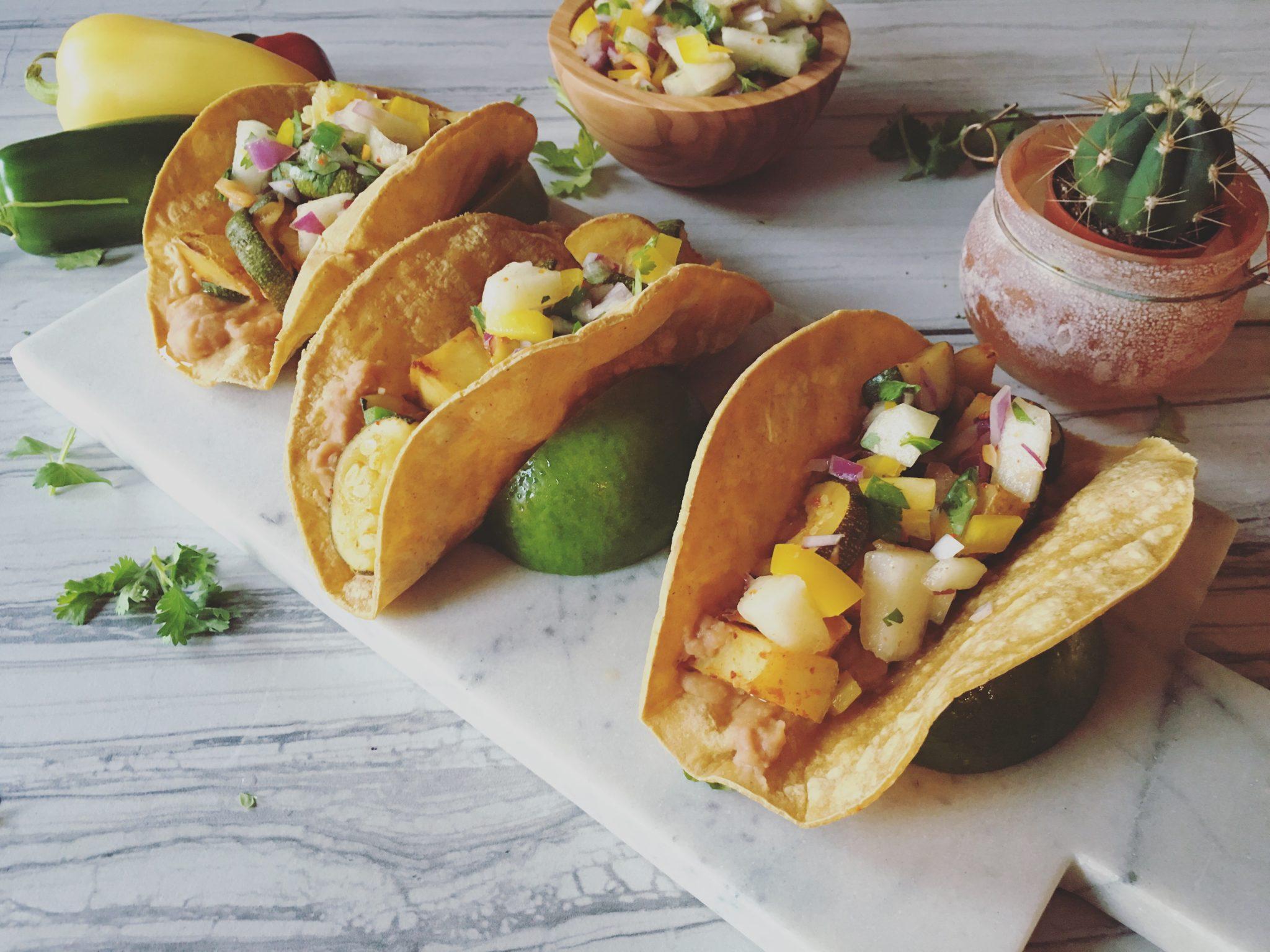 Potato Zucchini Tacos