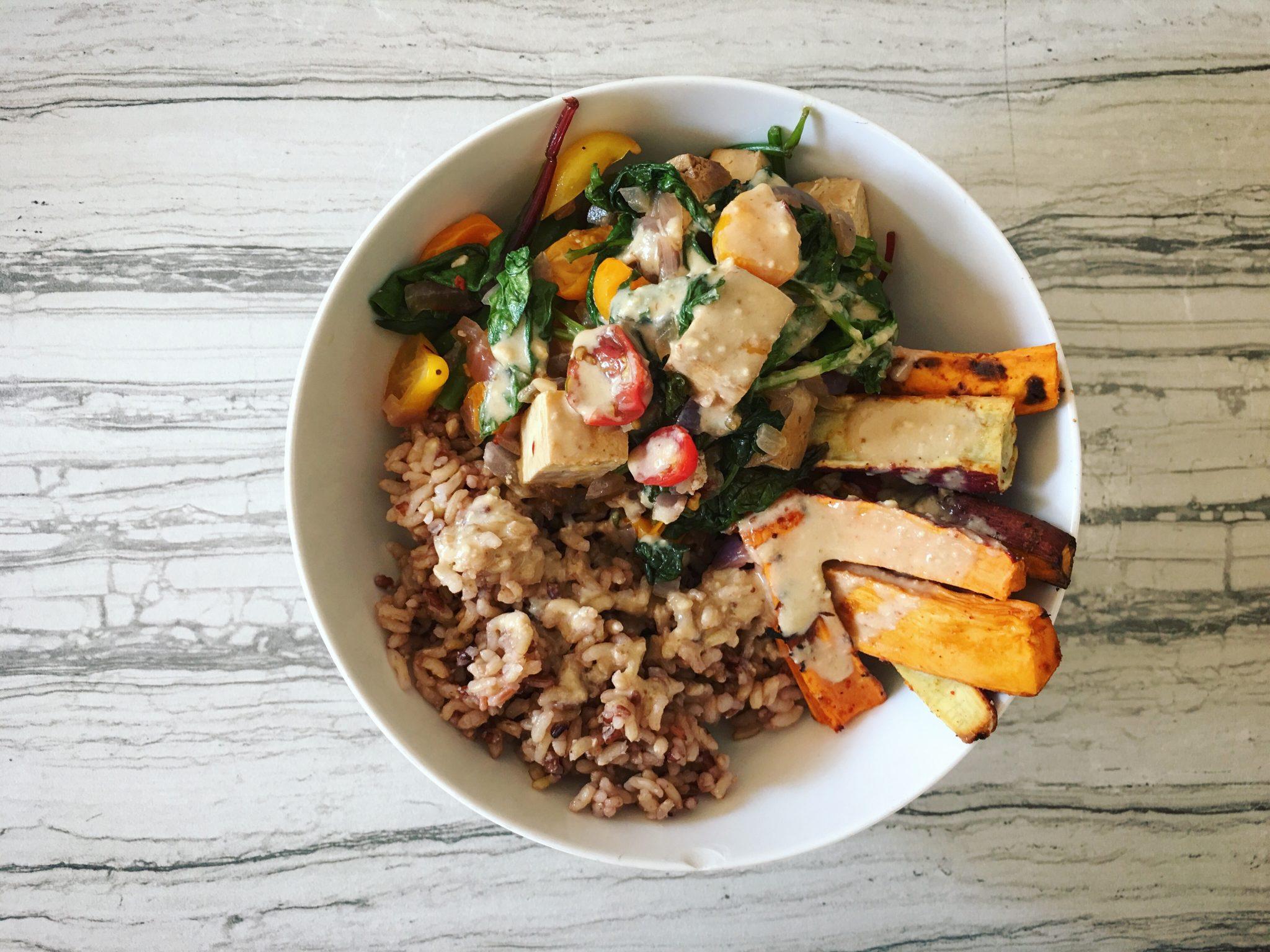 Sweet Potato + Greens Buddha Bowl
