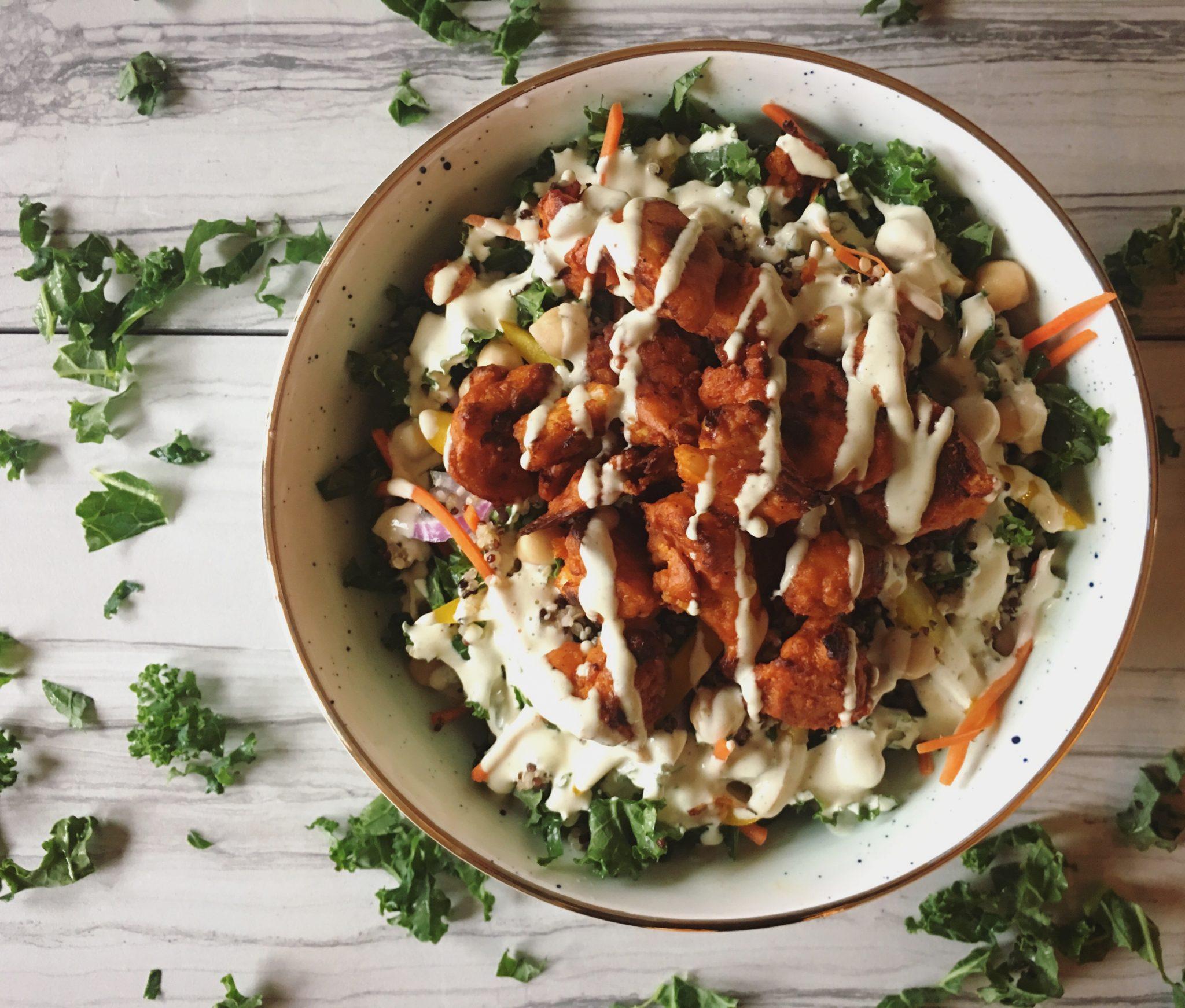 Friday Feast – Crispy Buffalo Cauliflower Salad
