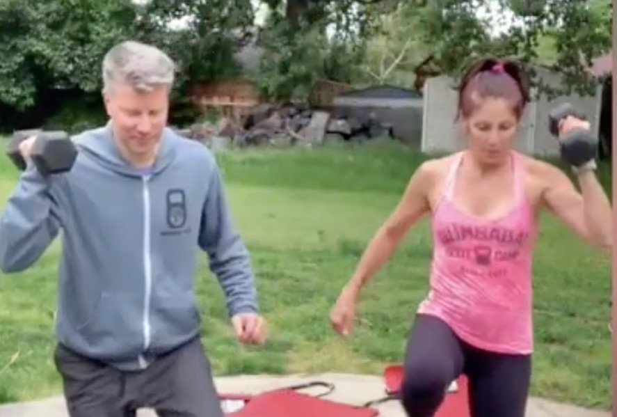 Stay Home Workout – 8 Minute AMRAP with M & Chad